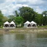 Royal Livingstone in Zambia biedt massages aan de Zambezi oever