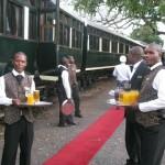 Royal Livingstone Express staat klaar voor vertrek door Zambia