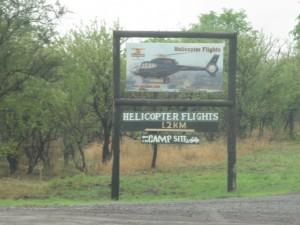 Vliegen over Zambezi en watervallen