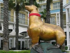 Standbeeld zeeleeuw Oscar