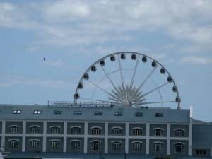 Reuzenrad en fabrieken Kaapstad