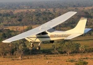 Olifanten, vliegtuig voor census